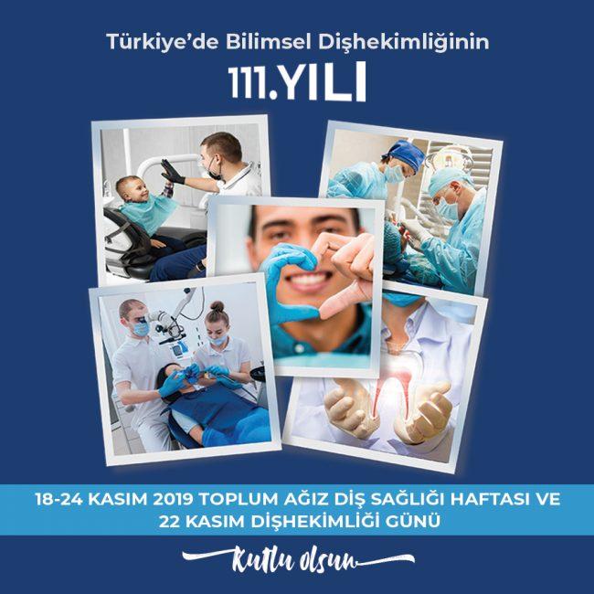 Toplum Ağız Diş Sağlığı Haftası ve 22 Kasım Dişhekimliği Günü kutlanıyor.