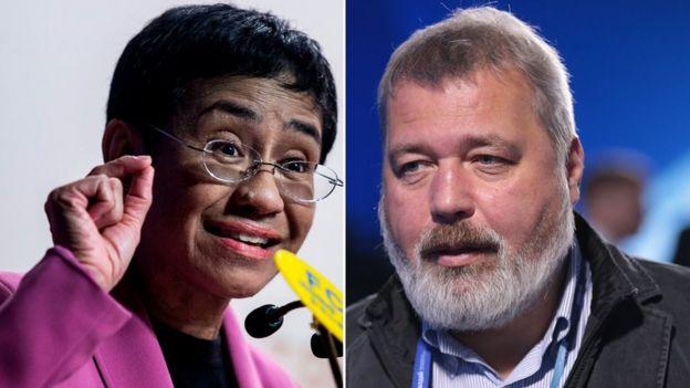 2021 Nobel Barış Ödülü Rusya ve Filipinler'den iki Gazeteciye verildi.