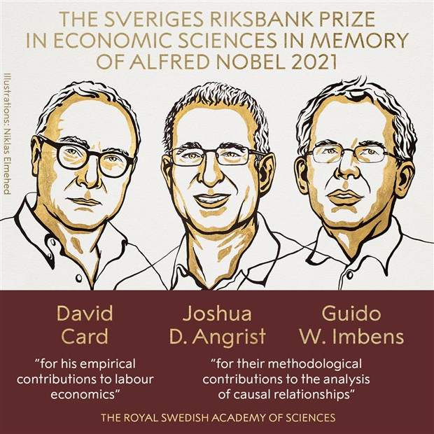 """Nobel Ekonomi Ödülü """"Doğal Deney"""" öncülerinin oldu."""